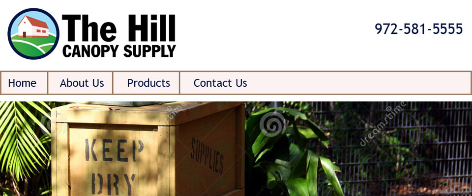 Hill Canopy Supply Reactive Website Design